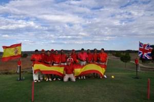 Equipo español de golf en Costa Esuri.