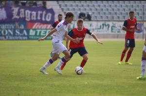 Ernesto debutó con el Recreativo ante el Jaén. (Javier del Camps).