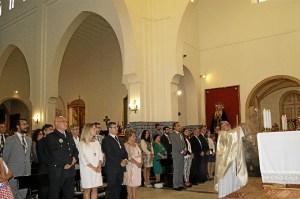 Las autoridades en la Solemne Misa del Rosario