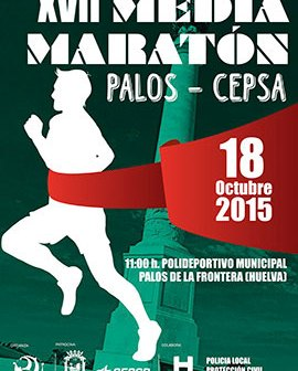 Cartel de la Media Maratón Cepsa-Palos.