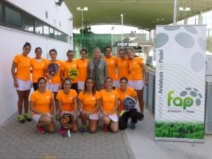 Selección femenina onubense de pádel.