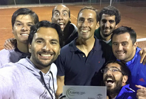 Integrantes del Recreativo de Tenis de Huelva.