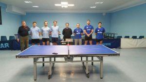 Maristas Huelva de tenis de mesa ante Círculo Mercantil.