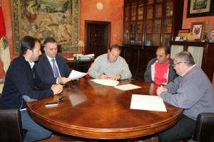 Convenio entre el Ayuntamiento de La Palma y el CD Siempre Alegres.