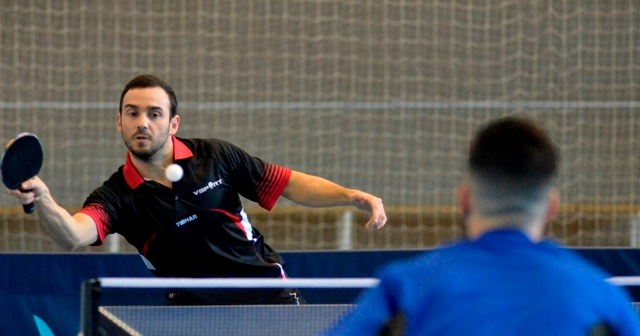 David Pérez, jugador del Conservas Lola de tenis de mesa.