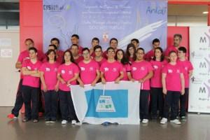 Nadadores del Club Onubense de Deporte Adaptado en el Campeonato de España.