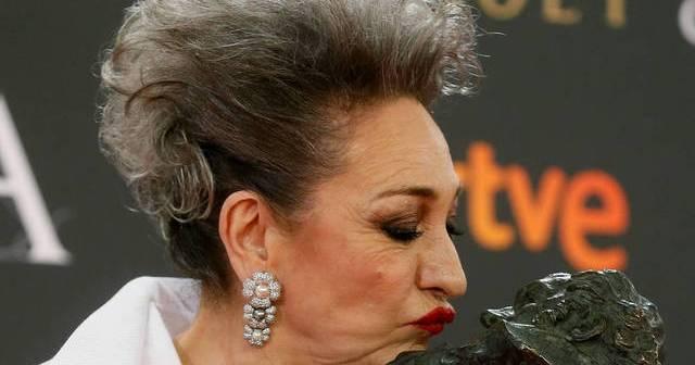 Luisa Gavasa, premio Goya a la mejor actriz de reparto.