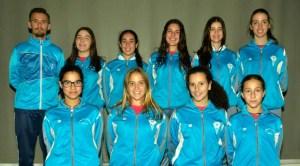 Equipo del DJA'75 de voleibol.