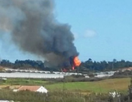 Incendio asentamiento Palos