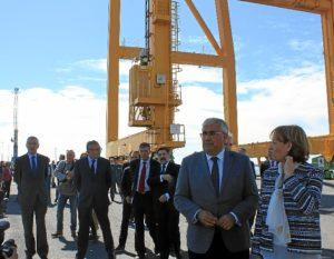 Muelle Sur Puerto de Huelva consejeros Junta y Puertos Estado