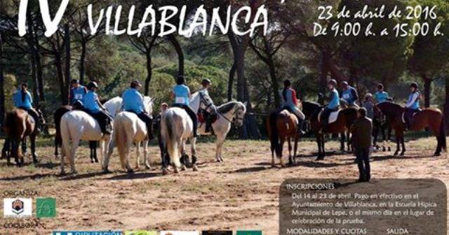 Cartel del IV Raid Bajo Guadiana en Villablanca.
