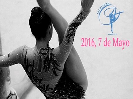 Cartel del Torneo de gimnasia rítmica en Ayamonte.