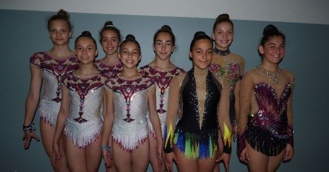 Gimnastas del Club Gimnasia Rítmica de Huelva.