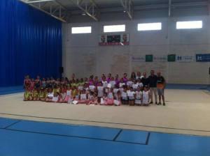Clausura de la Escuela Deportiva de gimnasia rítmica en San Bartolomé.