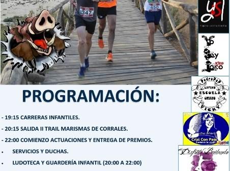 Cartel del II Trail_Marismas de Corrales.