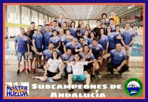 CD Máster Huelva, subcampeón de Andalucía de natación.