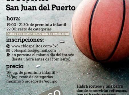 Cartel de la jornada de baloncesto en San Juan del Puerto.