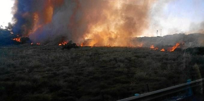 Imagen del Plan Infoca del incendio en Gibraleón.