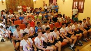 Equipo infantil del Pedro Alonso Niño de Moguer, campeones de España.