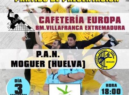 Cartel del partido amistoso Villafranca-PAN Moguer.