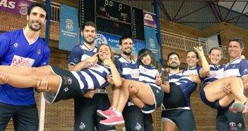 Jugadores del Recreativo IES La Orden celebrando la victoria ante Rinconada.