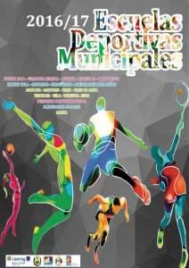 Cartel de las Escuelas Deportivas Municipales en Ayamonte.