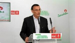 Imagen de archivo de Ignacio Caraballo en una rueda de prensa en la sede del PSOE.