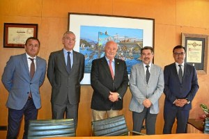 Reunion Presidente Puerto de Huelva con Presidente Puerto Tenerife