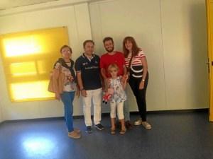 (De izquierda a derecha: Pepi Gallego, Padre de Celia, Diego López, Celia y Madre de Celia)