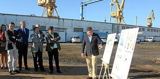 Inicio obras zona astilleros Puerto Huelva2