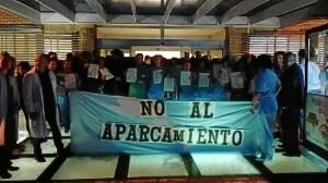 protesta contra la zona ora en minas de riotinto
