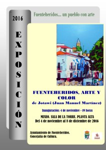 Cartel Fuenteheridos, arte y color copy