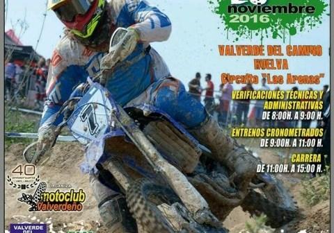 Cartel del Torneo de Motocross en Valverde del Camino.