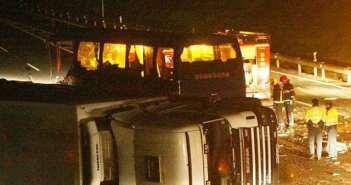 Accidente del autobús del Recreativo de Huelva en 2006.