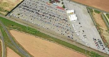 Zona de carga de vagones en el Centro Logístico de Majarabique. (Foto: Revista Vía Libre)