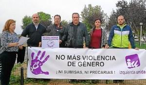 Acto de IU Punta Umbria contra la violencia machista