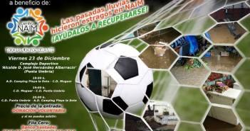 Cartel de fútbol del triangular de Naim.