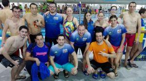 Equipo del Máster Huelva de natación.