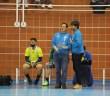 Máximo Gutiérrez, a la derecha, nuevo entrenador del PAN Moguer.