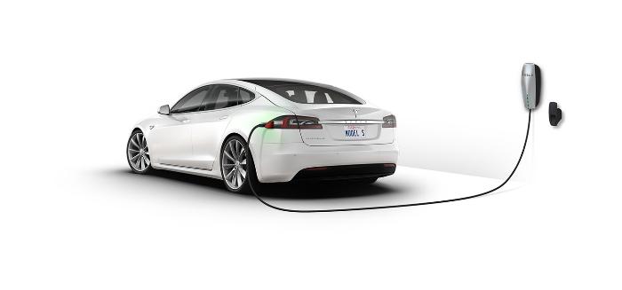 Uno de los coches de Tesla.