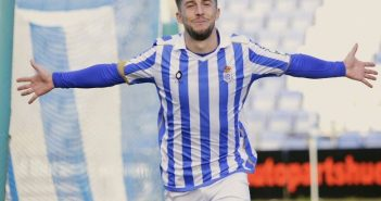 Antonio Domínguez, jugador del Recreativo de Huelva.
