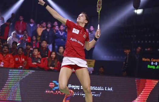 Carolina Marín en la Liga India.