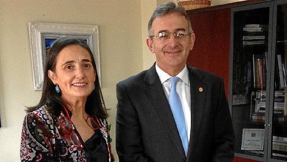 Encuentro institucional subdelegada y rector UHU