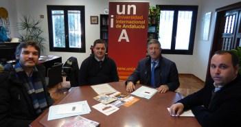 Visita institucional del alcalde de Palos a la UNIA