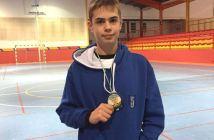 Andrés Nuviala, jugador del CD Bádminton Huelva.