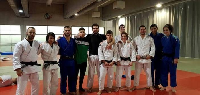 Judocas cadetes del Huelva TSV.