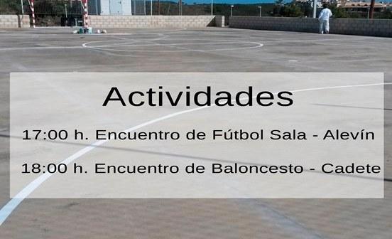 Inauguración de las pistas polideportivas en Costa Esuri.