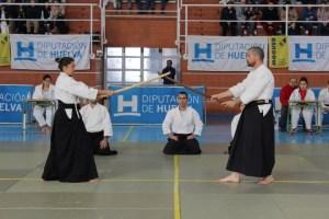 Exhibición de aikido en Moguer.