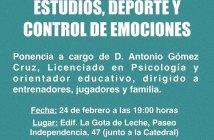 Cartel de las II Jornadas formativas del Ciudad de Huelva.