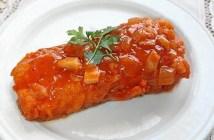 bacalao frito con tomate